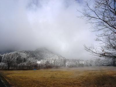 お昼の朝霧