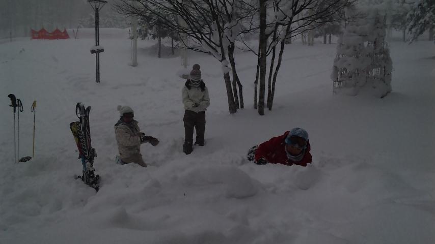 ルスツ雪遊び