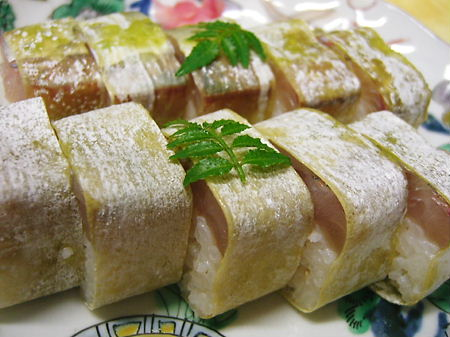 てっぱん♪旬の活き鯵棒寿司♪