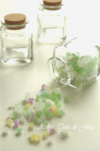 ガラス瓶と金平糖