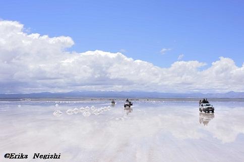 塩の山と四駆