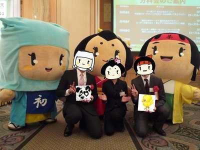 浅井三姉妹と・・・!おちゃちゃちゃん、おはつちゃん、おごうちゃんと
