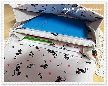 母子手帳ケース-2 使用例 手帳ポケット