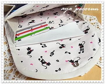 母子手帳ケース-2 使用例 内カードポケット