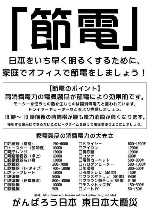 節電ポスター1