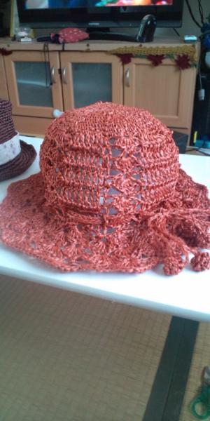 松葉編み帽子