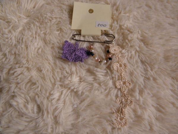 カブトピン バタフライ(紫)