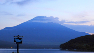 24日夕方富士山