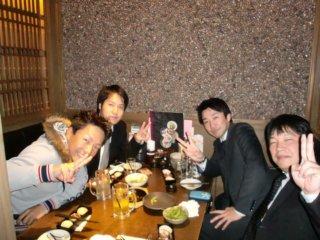 大学時代の友人と飲み会1