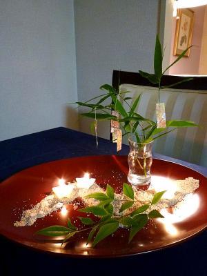 七夕のテーブル
