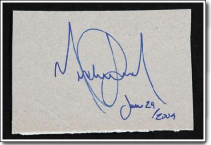 マイケル、最後のサイン