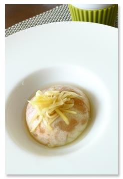 桃のジンジャーソテー