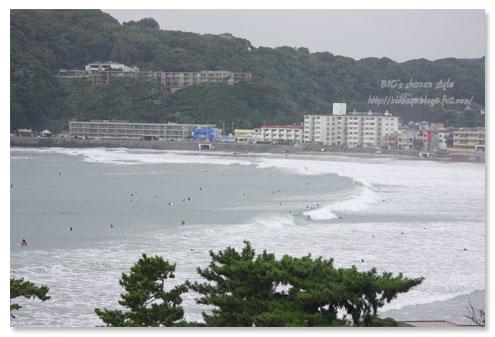 逗子海岸,台風
