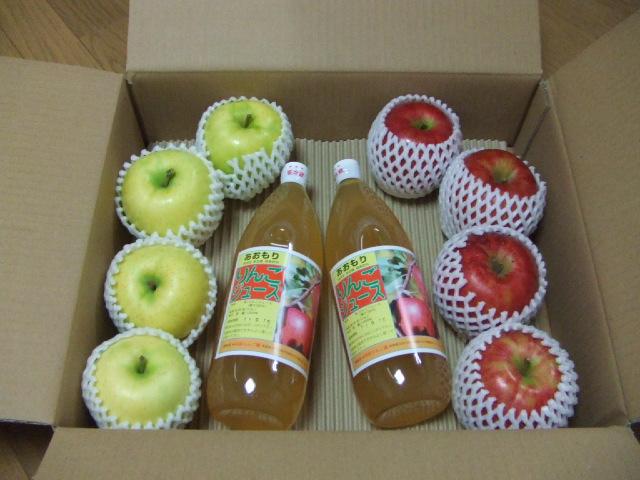 特別栽培の青森りんご+ジュースセット