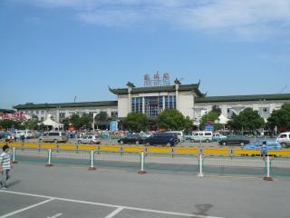 やっと着きました、蘇州駅