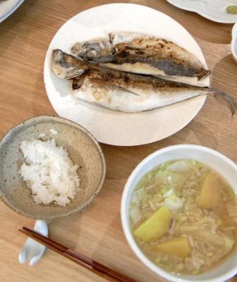 アジの干物定食 2009.10.18
