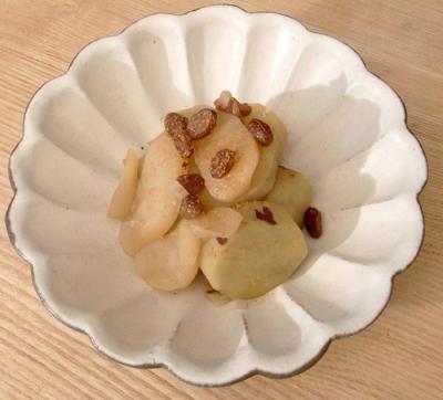 サツマイモとリンゴの甘煮 2009.10.19