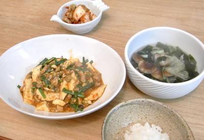 麻婆豆腐とガーリック&ジンジャースープ 2009.11.5