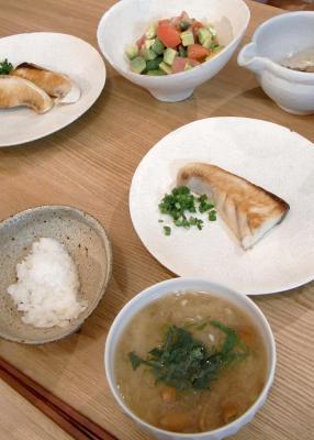 ぶりの塩焼き定食 2009.11.12