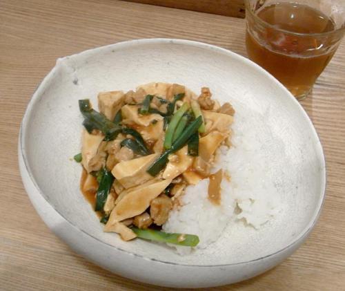 麻婆豆腐どんぶり 2009.11.20