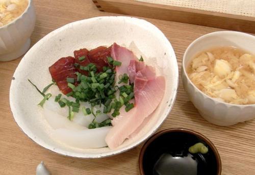 海鮮丼とお味噌汁 2009.11.29