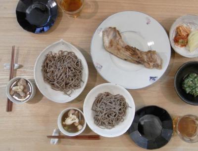 鶏そば!マグロのかま焼き!2010.1.4
