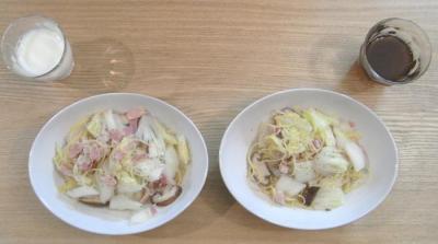 白菜とベーコンのさっぱりパスタ!2010.1.5