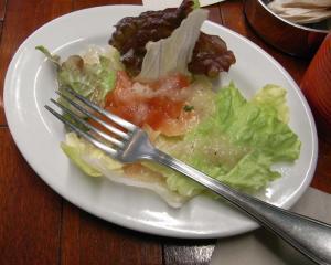 cafeRED BOOK ランチセットのサラダ 2010.1.9