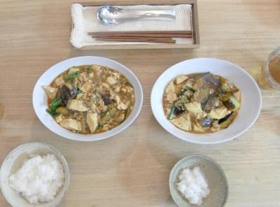 麻婆茄子&豆腐 2010.1.11