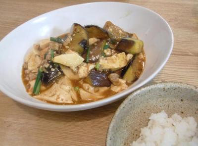 麻婆茄子&豆腐! 2010.1.11