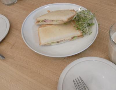 ホットサンド!ハム&チーズ 2010.1.26