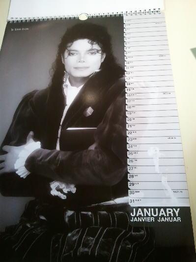 マイケルジャクソンのカレンダー