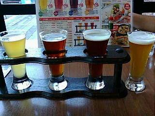 はこだてビール飲み比べ