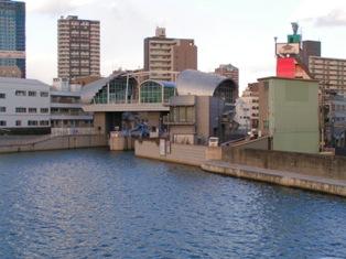 道頓堀川、木津川、尻無川合流調整門PICT0027