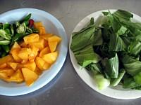 柿とイカのオイスター炒め