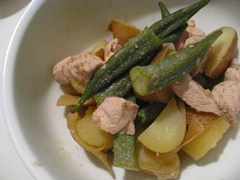 オクラとジャガイモ煮2