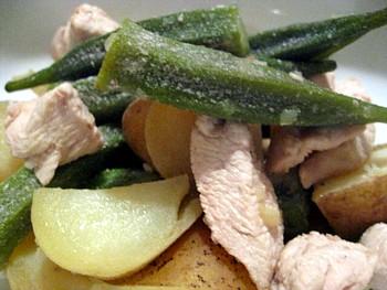 オクラとジャガイモ煮3