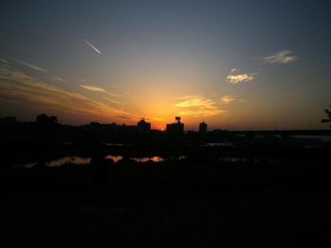 二子玉の夕日
