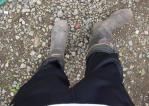 ジャージで長靴