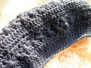 ふちはこま編み、ベレー帽どす!