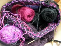 編み込み途中