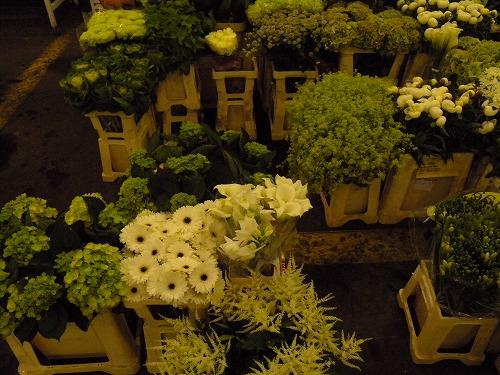 白い花のブース