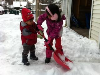 snow shoveling photo