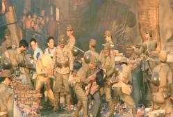 上海市民を惨殺している日本兵