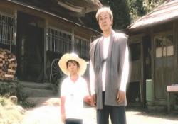 東京に行く姉を見送る幼児時代の三平