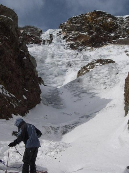 御嶽。四の池下の氷瀑