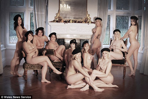 women strip naked for charity