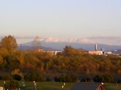 雪の山頂部