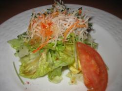 Cセットのシャキシャキ野菜のサラダ