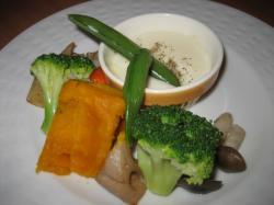 温野菜サラダ ホワイトソース添え